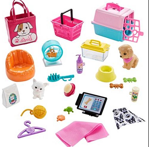 Barbie bebek evcil hayvan setleri